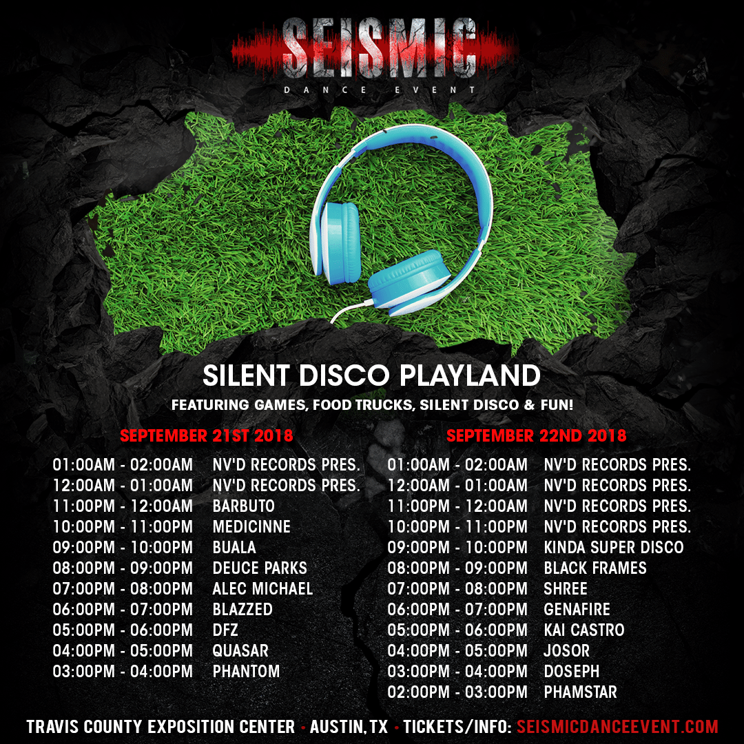 Seismic Dance Event - Silent Disco Playland