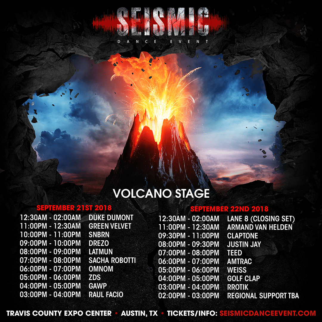 Seismic Dance Event - Volcano Stage
